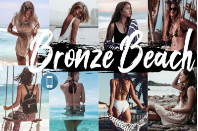 Neo Bronze Beach Theme mobile lightroom presets