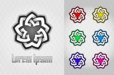 Triangular celtic style logo