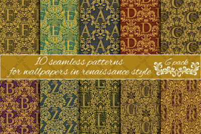 Renaissance seamless patterns Pack 6