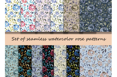 Watercolor  Rose Patterns