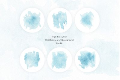 Blue watercolor textures background