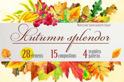Watercolor autumn splendor