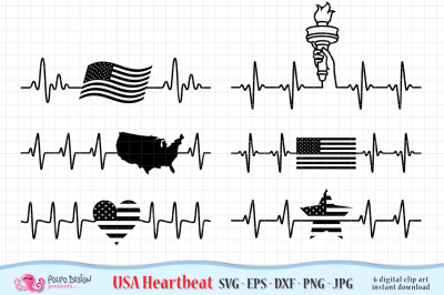 USA Heartbeats SVG