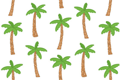 Pattern with Tropical palm trees