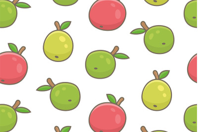 Seamless pattern with apples