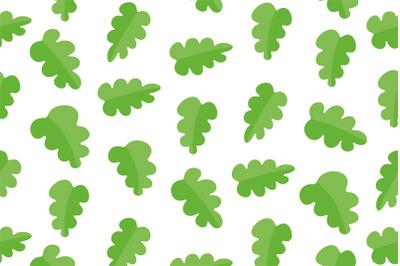 Pattern with oak leaves