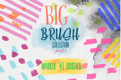 Marker BRUSH collection for PHOTOSHOP