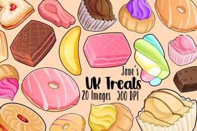 Kawaii British Treats Clipart