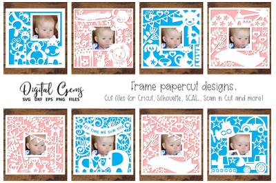 Frame paper cut design bundle