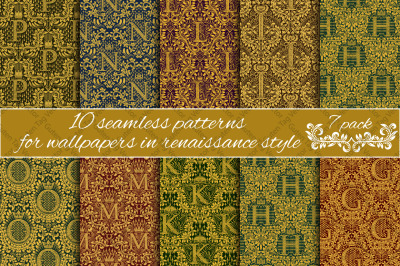 Renaissance seamless patterns Pack 7