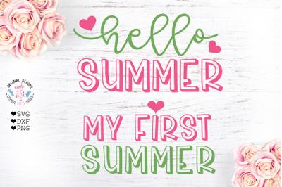 Hello Summer - My first Summer - 2 Summer Designs
