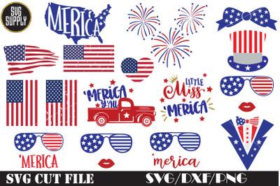 4th of July Bundle SVG Cut File