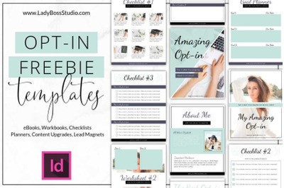 InDesign Turquoise Opt-in Freebie Templates