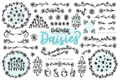 Daisies, Vector, PNG, SVG