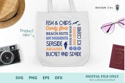 British seaside word art - SVG cut file