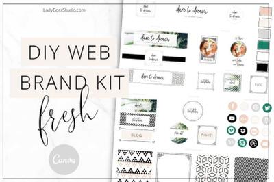 Canva Fresh Brand Kit Template