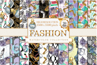 Fashion patterns Watercolor png