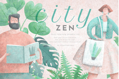 CityZEN / Relaxing Illustrations Set