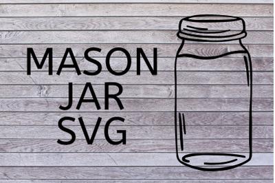 Mason Jar SVG|Mason Jar SVG For Cricut