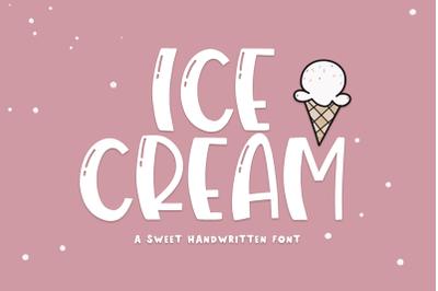 Ice Cream - A Quirky Handwritten Font