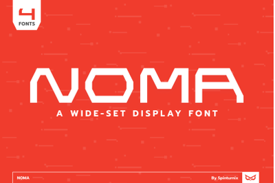 Noma | Wide-Set Display Font (4 Fonts)