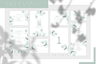 Eucalyptus Wedding Invitation Suite