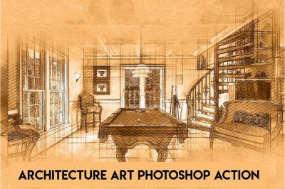 Architecture Art Photoshop Action
