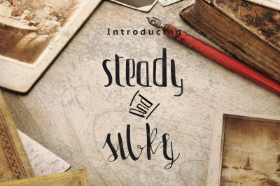 Steady & Silky Typeface + Extras
