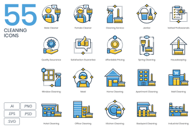 55 Cleaning Icons