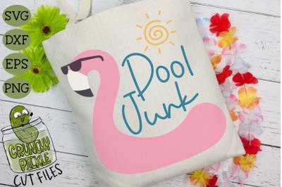 Pool Junk Flamingo SVG for DIY Beach Bags & Pool Totes