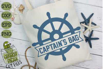 Captain's Bag Ship Wheel SVG for DIY Beach Bags & Boat Totes