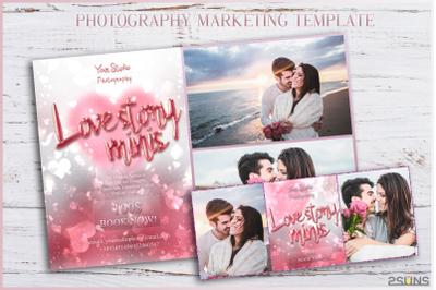 Valentine mini session template Photography marketing board