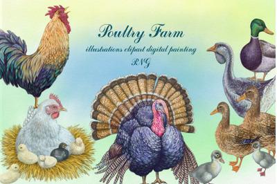 Poultry farm Clip Art