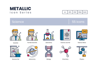 55 Science Icons