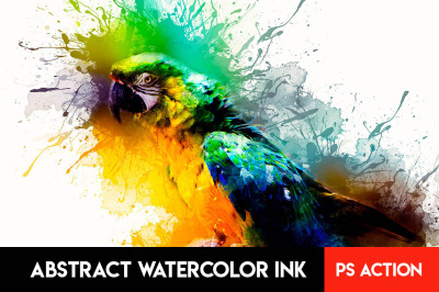 Abstract Watercolor Ink Photoshop Action