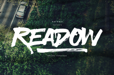 Readow Brush Font + Bonus! 90% OFF