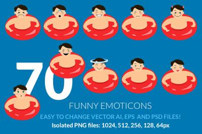 70 Summer funny emoticons