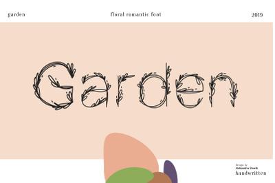 Garden|floral romantic font