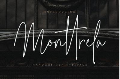 Monttrela Handwritten Font