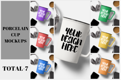 Porcelain Mug Cup Mockup Bundle - 7|1080x1080px