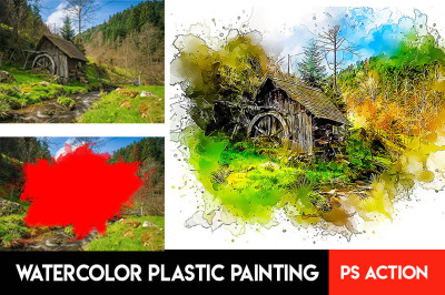 Watercolor Plastic Painting Photoshop Action