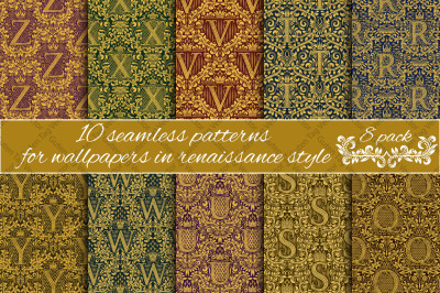 Renaissance seamless patterns Pack 8