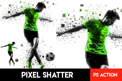 Pixel Shatter Photoshop Action