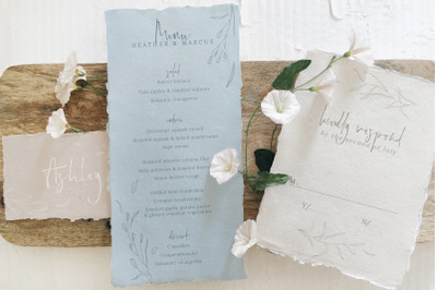 Rustic Ivory & Blue Wedding Suite