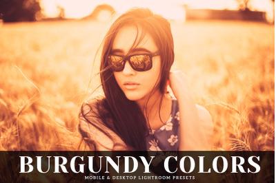 Burgundy Colors Mobile & Desktop Lightroom Presets