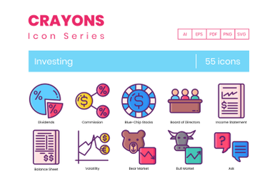 55 Investing Icons