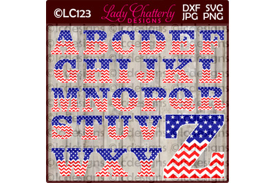 Stars and Stripes Patriotic Alphabet