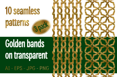 10 golden bands patterns Pack 3
