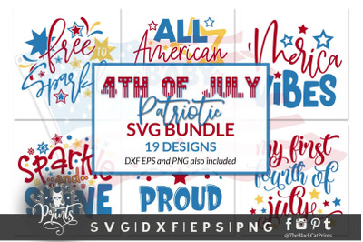 4th Of July Bundle SVG DXF EPS PNG