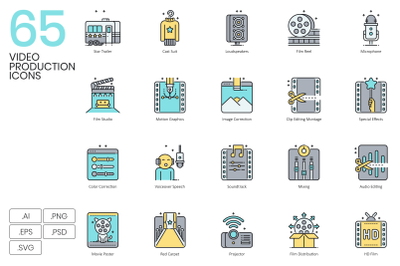 65 Video Production Icons